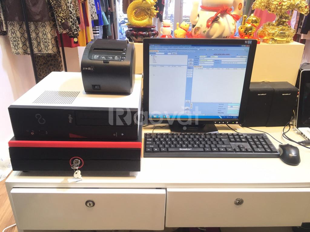 Trọn bộ máy tính tiền cho shop quần áo phụ kiện, mỹ phẩm tại Hải Phòng