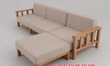 Sofa gỗ sồi tự nhiên sofa gỗ cho phòng khách nhỏ giá tận gốc