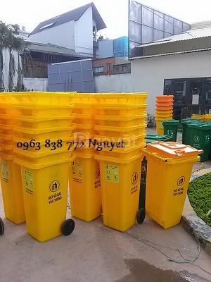 Thùng rác 240L - thùng rác công cộng - bán thùng rác