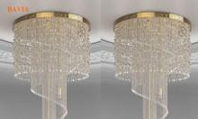 Đèn thả trần thông tầng pha lê QN-HT847