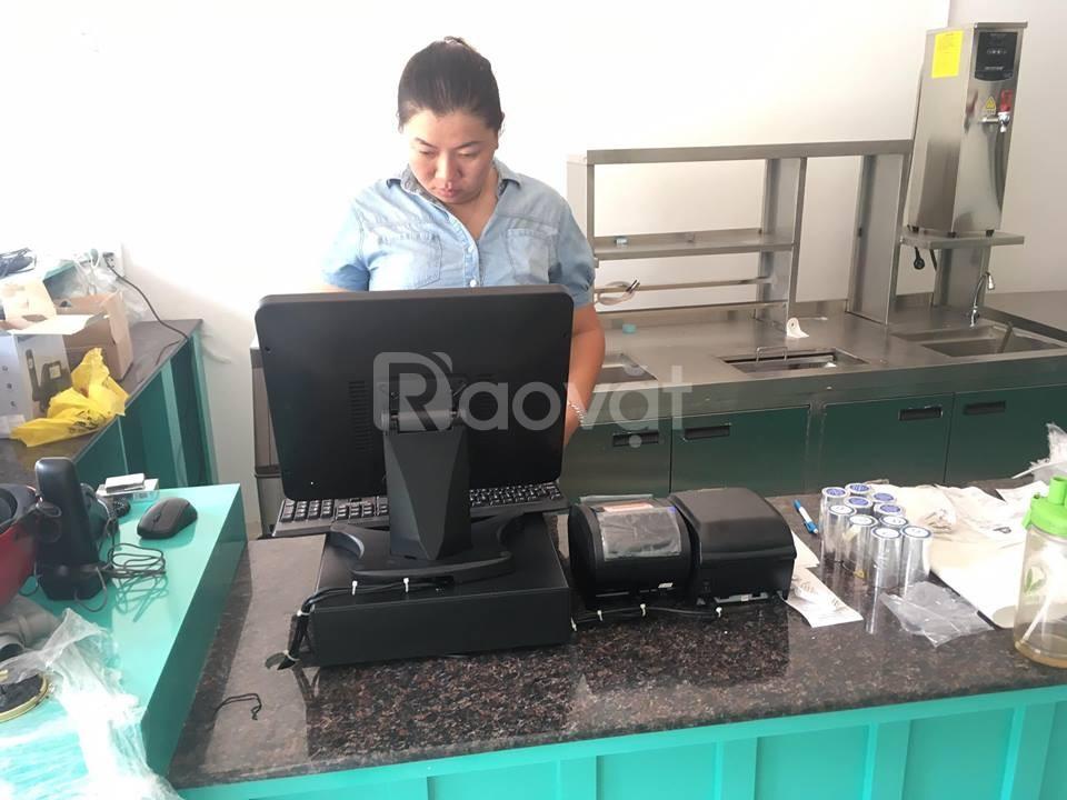 Bán máy tính tiền, máy in bill, máy in tem cho quán trà sữa tại TpHCM