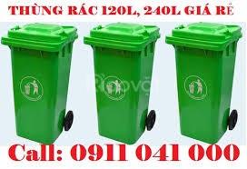 Quận 10 bán thùng rác nhựa hdpe120L, 240L chính hãng giá tốt (ảnh 6)