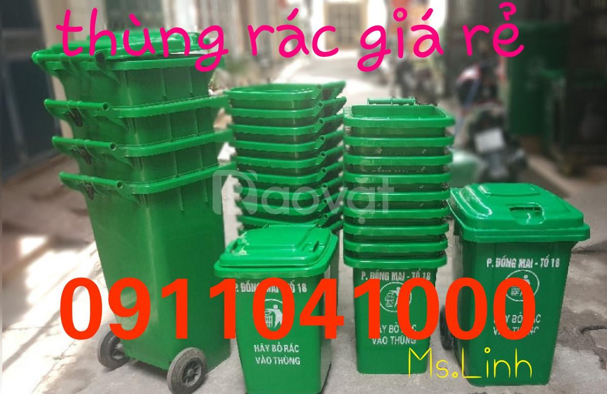 Quận 10 bán thùng rác nhựa hdpe120L, 240L chính hãng giá tốt (ảnh 1)