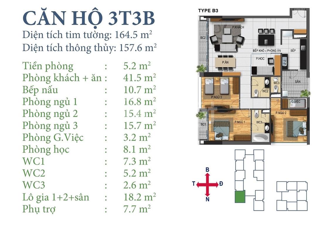 Bán căn hoa hậu 157m2 đẹp dự án Horizon Ngoại Giao Đoàn (ảnh 4)