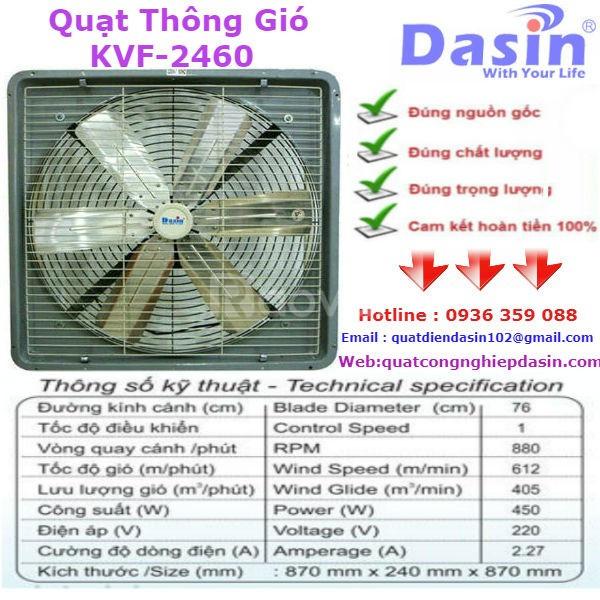 Báo giá quạt thông gió công nghiệp Dasin