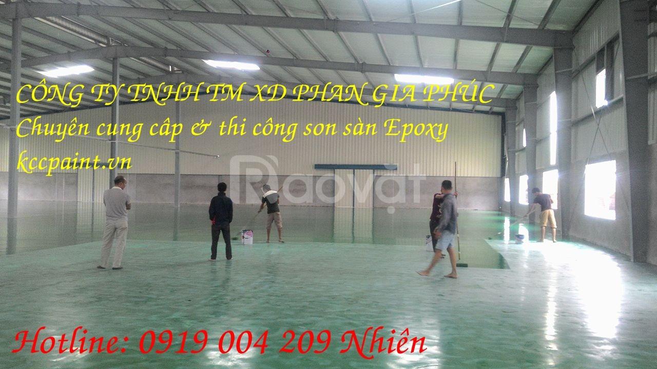 Đơn vị thi công sơn sàn Epoxy KCC giá rẻ Tiền Giang