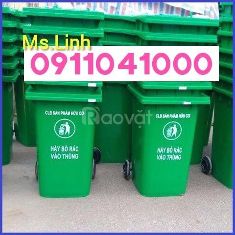 Quận 10 bán thùng rác nhựa hdpe120L, 240L chính hãng giá tốt (ảnh 4)