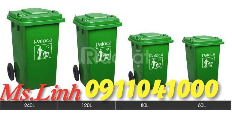 Quận 10 bán thùng rác nhựa hdpe120L, 240L chính hãng giá tốt (ảnh 5)