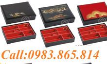 Hộp cơm bento, bento box, hộp cơm đỏ đen, hộp cơm Nhật