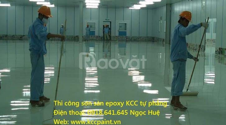 Mua sơn Epoxy kcc trong suốt chống trầy cho sàn gồ, bê tông giá rẻ