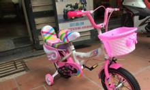 Xe đạp cho bé gái YBX-201 màu hồng đẹp cho bé gái