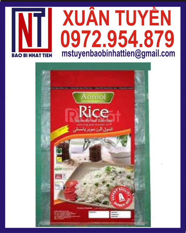 Bao gạo ghép màng đựng 25kg
