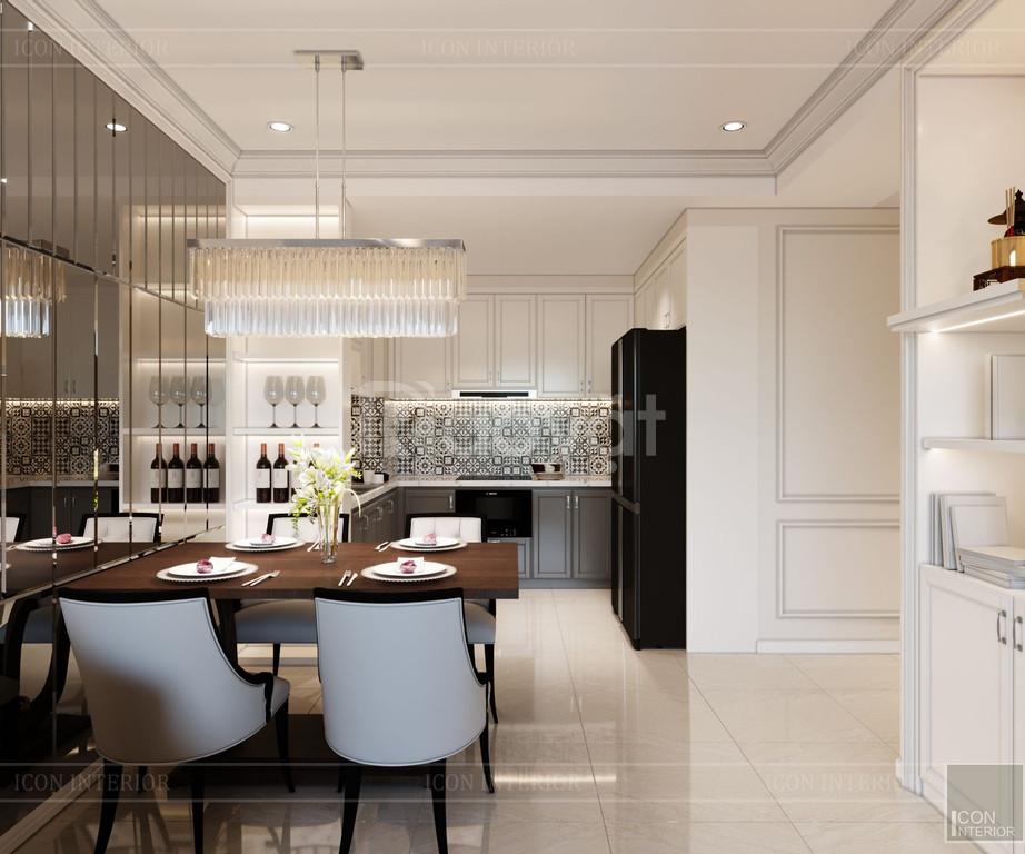 Thiết kế nội thất tân cổ điển sang trọng căn hộ Golden Manson (ảnh 4)