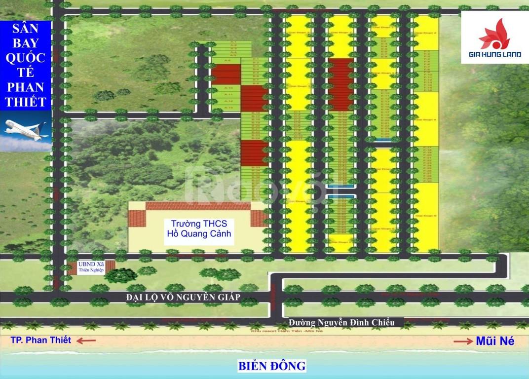 Đất nền giá rẻ 1.000m2 giá 1,2 triệu/m2 liền kề sân bay Phan Thiết