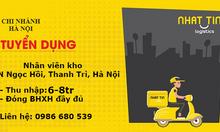 Tuyển dụng nhân viên kho, làm việc tại KCN Ngọc Hồi, Thanh Trì, Hà Nội