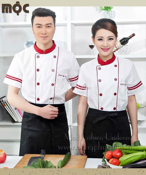 Áo bếp áo đầu bếp áo bếp trưởng đồng phục bếp nhà hàng