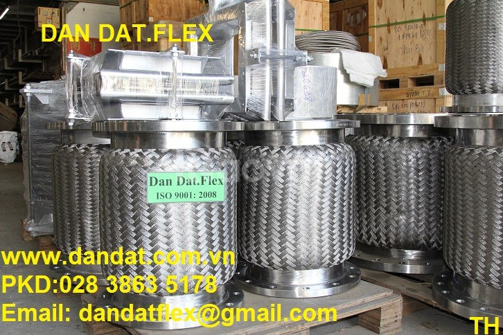 Khớp chống rung -khớp nối mềm inox nối bích -ống mềm  PCCC