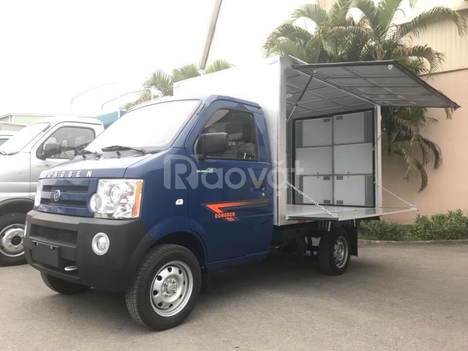 Xe tải dongben 770kg thùng kín cánh dơi