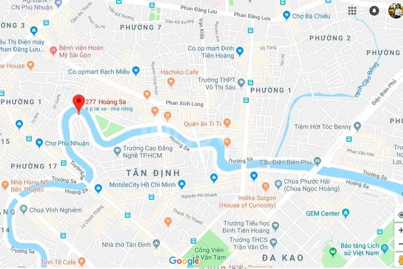 Cần cho thuê mặt tiền 277 - 279 Hoàng Sa P.Tân Định, Q.1, giá rẻ