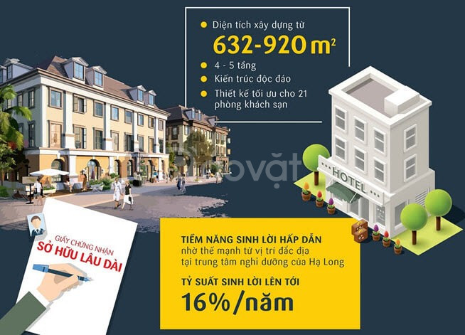 Bán nhà đất xây khách sạn, nhà hàng Bãi Cháy, Hạ Long 28 phòng