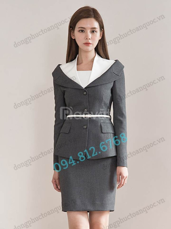 Xưởng đặt may đồng phục nhân viên Lễ tân thời trang cao cấp, giá rẻ