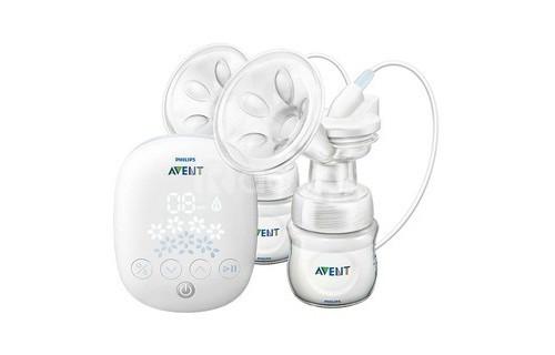 Máy hút sữa Avent điện đôi SCF303-01 + Tặng 30 túi trữ sữa non mother