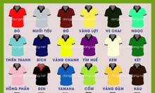 Bảng màu đa dạng cho áo thun