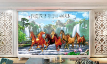 Tranh ngựa 3d gạch tranh 3d ốp tường