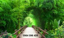 Tranh gạch men 3d rừng tre trúc