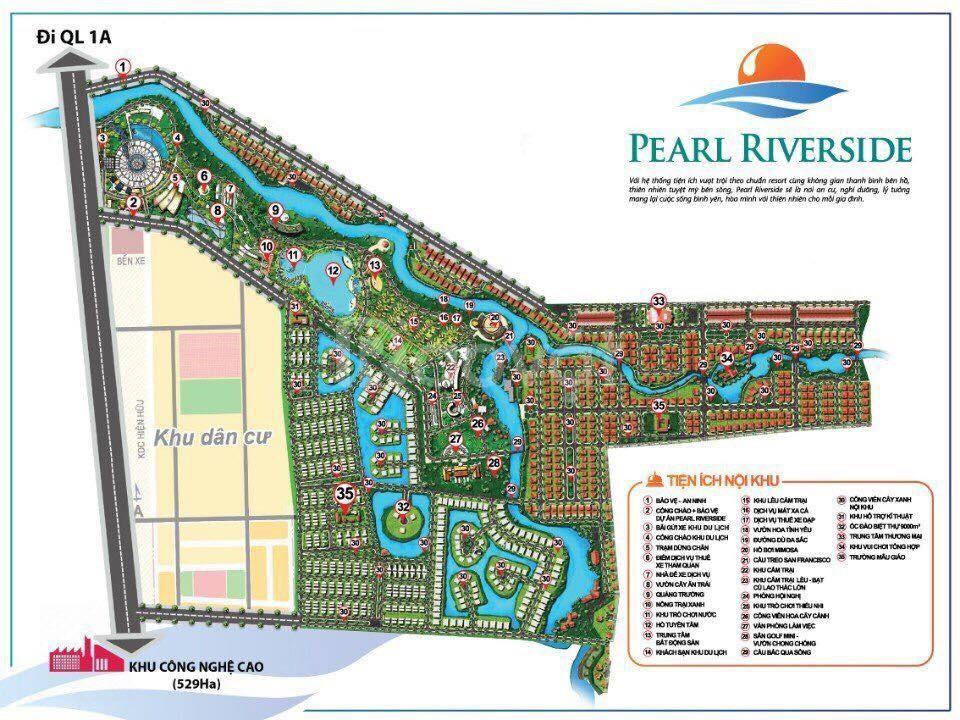 Pearl Riverside đất nền sinh thái nằm trong khu du lịch giá hấp dẫn