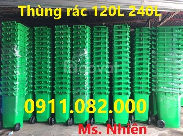 Bán thùng rác 120 lít 240 lít giá rẻ tại Đồng Nai thùng rác nắp kín  (ảnh 4)