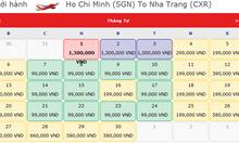 Vé máy bay Sài Gòn đi Nha Trang giá rẻ chỉ từ 58k chưa thuế phí
