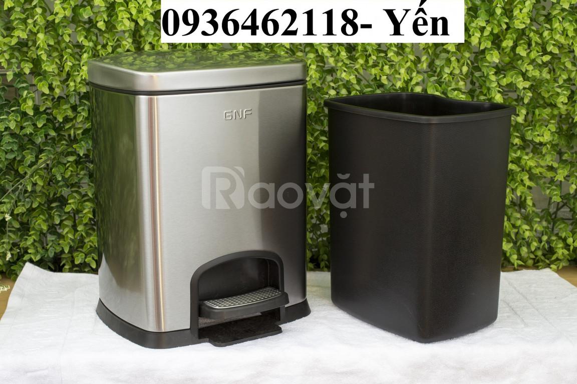 Thùng rác inox dậm chân, thùng rác inox phủ nano giá rẻ!
