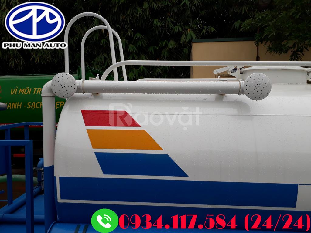 Xe phun nước dongfeng 5 khối – thông số kỹ thuật xe phun nước