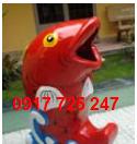 Thùng rác hình cá chép KT: 1100x600mm