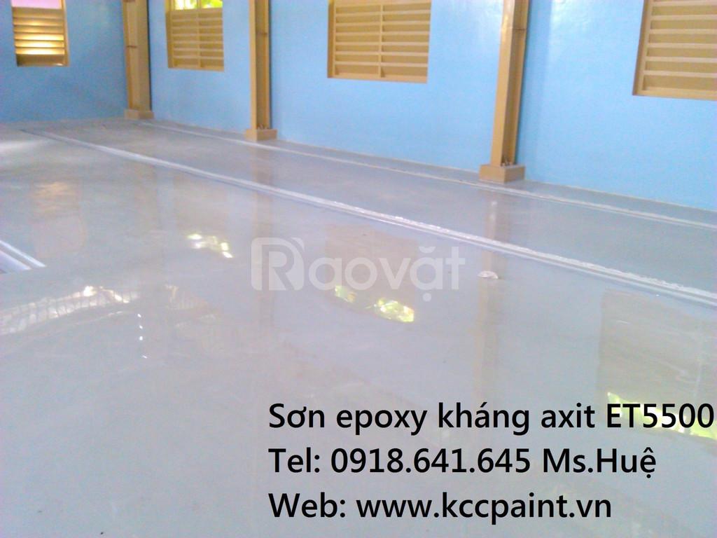 Epoxy tự phẳng kháng axit Unipoxy Lining màu xám D80680 (ảnh 1)