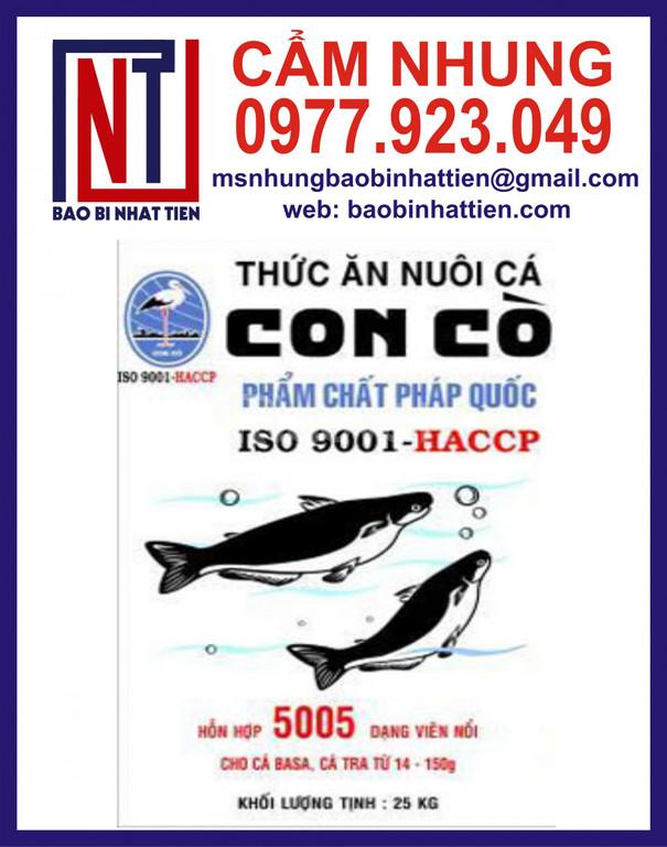 Bao PP dệt đựng thức ăn nuôi cá tra và cá basa