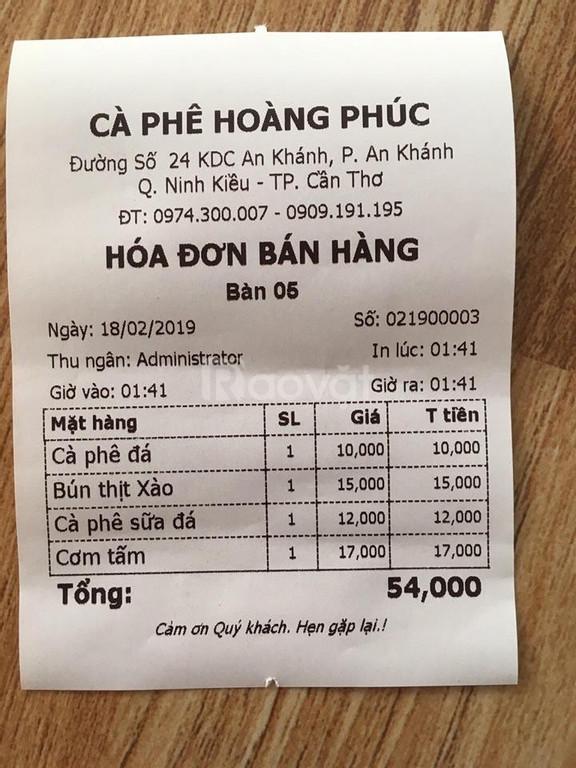 Bán trọn gói máy tính tiền giá rẻ cho quán Cafe tại Cần Thơ