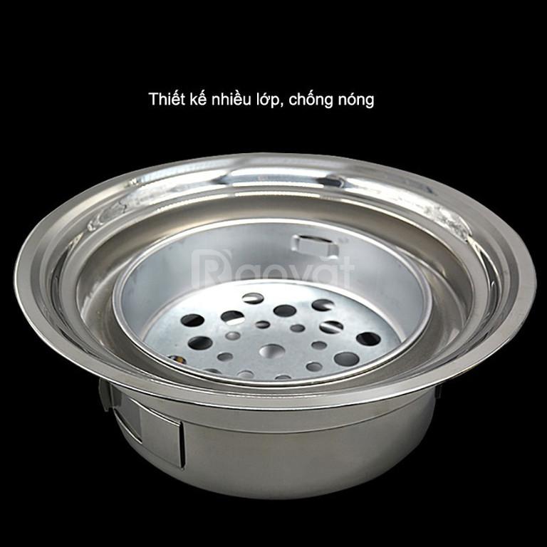 Bếp nướng inox than hoa đặt âm bàn vỉ Inox 304 cho nhà hàng gía rẻ