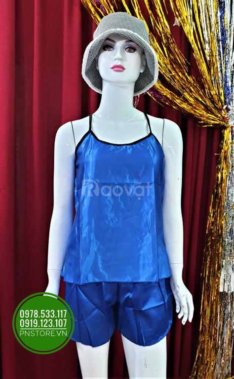 Đồ ngủ phi bóng hai dây có ren lưng dễ thương tại PN Store