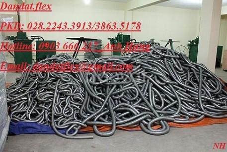 Ống thép mềm luồn dây điện + ống ruột gà pvc + ống ruột gà inox