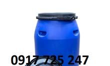 Thùng phi nhựa 120 lít KT: Ø 430 x H 760 mm