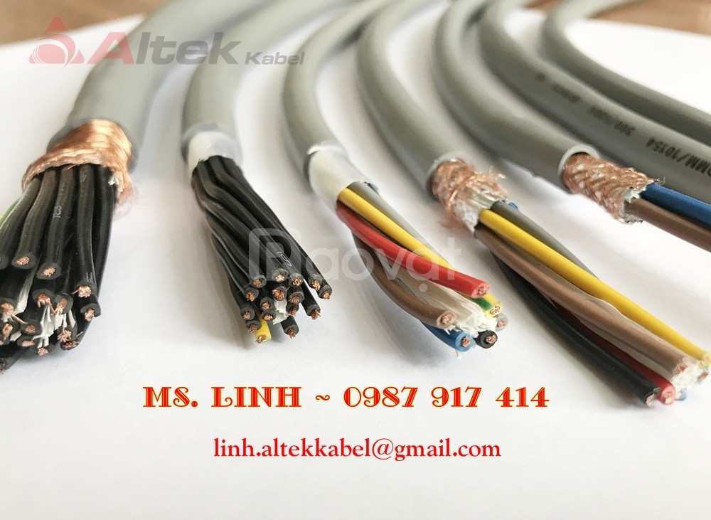 Cáp điều khiển, cáp tín hiệu có lưới chống nhiễu cáp điều khiển nhập