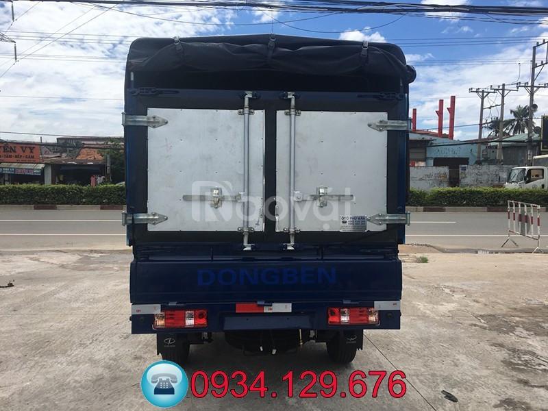 Xe tải Dongben DB1021 870kg thùng lửng, bạt, kín