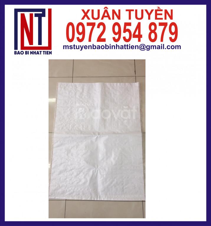 Bao PP dệt trắng không in đựng bột (ảnh 4)