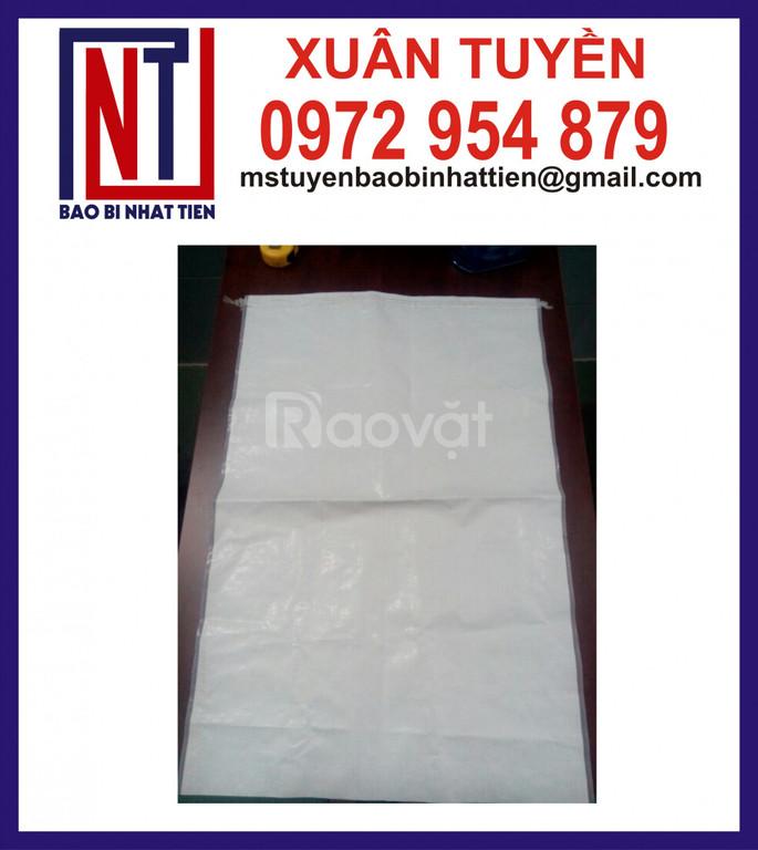 Bao PP dệt trắng không in đựng bột (ảnh 6)