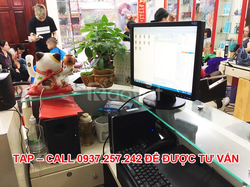 Máy tính tiền cho salon tóc, tiệm nail giá rẻ tại Hà Nội