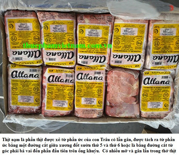 Thịt trâu Ấn Độ, thịt trâu đông lạnh