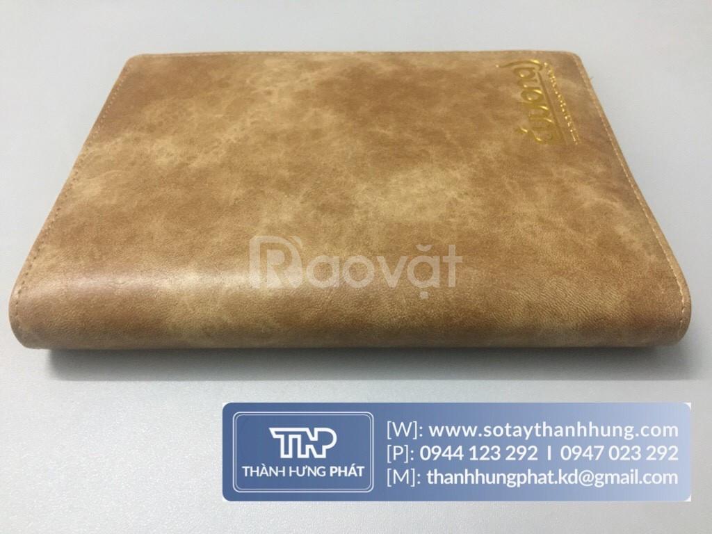 Sổ tay bìa còng sổ bìa da cao cấp sổ da quà tặng