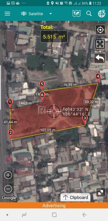 Lô đất nằm ở mặt tiền Huỳnh Tấn Phát, Quận 7, TPHCM